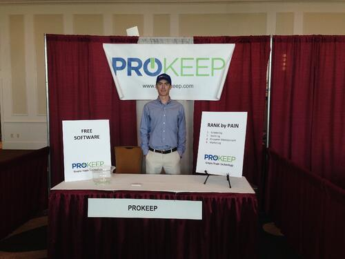 Prokeep first booth